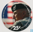 AAFES 25c 2009 Military Picture Pog Gift Certificate 13G251