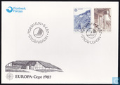 Timbres-poste - Féroé - Europe – Architecture moderne