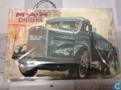 Enamel signs - Truck MAN - Emaille Bord : ,,M.A.N Diesel