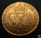France demi Louis d'or 1743 (W)