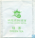 Tea bags and Tea labels - Yiting Chain Hotel - Green Tea