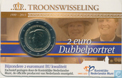 "Niederlande 2 Euro 2013 (Coincard - BU) ""Abdication of Queen Beatrix and Willem-Alexander's accession to the throne"""