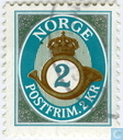 Postage Stamps - Norway - 200 Blue