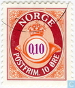 Briefmarken - Norwegen - 10 orange