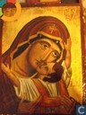 Orthodox Icon gold leaf, oil / wood - Virgin and Child