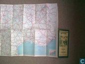 Carte Michelin Etat des Routes France Sud Eté 1930