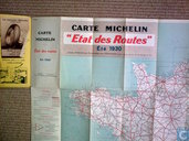 Carte Michelin Etat des Routes France Nord Eté 1930