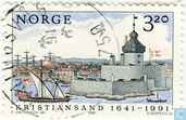 Postage Stamps - Norway - 350 years the city Kristiansand