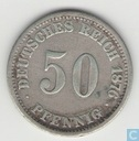 German Empire 50 pfennig 1876 (C)