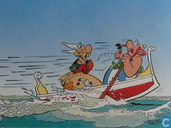 Asterix en Obelix in boot
