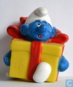 Smurf in present box