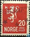Postage Stamps - Norway - 1926 Lion 20 Type II