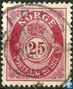 "Postage Stamps - Norway - Posthoorn ""NORGE"" in Antiqua"