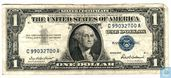 United States $ 1 1957 (silver certificate, blue seal)