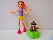Polly Pocket Lea with monkey
