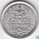 Coins - the Netherlands - Netherlands 25 cent 1944 (EP)