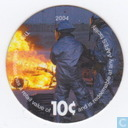 AAFES 10c 2004 Military Picture Pog Gift Certificate 4K101