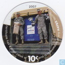AAFES 10c 2007 Military Picture Pog Gift Certificate 10M101