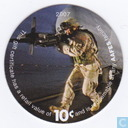 AAFES 10c 2007 Military Picture Pog Gift Certificate 10H101