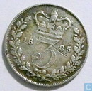 United Kingdom 3 pence 1885