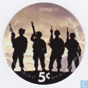 AAFES 5c 2006B Military Picture Pog Gift Certificate 9B51