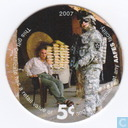 AAFES 5c 2007 Military Picture Pog Gift Certificate 10L51