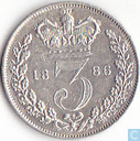 United Kingdom 3 pence 1886