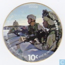 AAFES 10c 2005B Military Picture Pog Gift Certificate 7F101