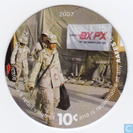 aafes 10c 2007 military picture pog gift certificate. Black Bedroom Furniture Sets. Home Design Ideas