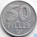 Hungary 50 fillér 1981