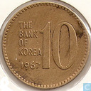South Korea 10 won 1967