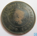 Maurice 2 cents 1884