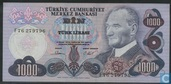 Turkey 1,000 Lira ND (1981/L1970)