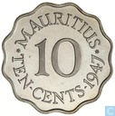 Mauritius 10 cents 1947 (PROOF)