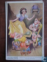 Snow white dances to the music of the dwarfs