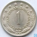 Yougoslavie 1 dinar 1974