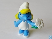Smurfette with white flower
