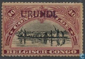 "Landscapes and various subjects Belgian Congo in 1915, marked Urundi ""type Tombeur\"""