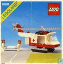 Lego 6691 Red Cross Helicopter