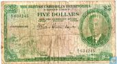 British Caribbean Territories 5 dollar 1951