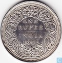 British India 1 rupee 1862 (B/II 2/0)