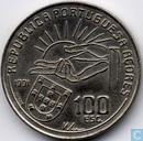 "Azoren 100 escudos 1991 (copper-nickel) ""100th Anniversary - Death of Poet Antero de Quental"""