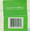 Tea bags and Tea labels - Asian Family - Green Tea