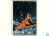 Philips Radio Surfplank - Reclamebord van blik
