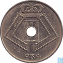Belgium 10 centimes 1939 (VL-FR 2e 9 lower)