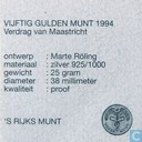 "Coins - the Netherlands - Netherlands 50 gulden 1994 (PROOF) ""Treaty of Maastricht"""