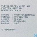 Coins - the Netherlands - Netherlands 50 gulden 1991 (PROOF)