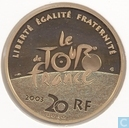 "Frankrijk 20 euro 2003 (PROOF) ""100th Anniversary of the Tour de France"""