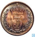United Kingdom 3 Pence 1887 (2nd effigy)