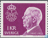 Postage Stamps - Sweden [SWE] - Gustaf VI Adolf death of King